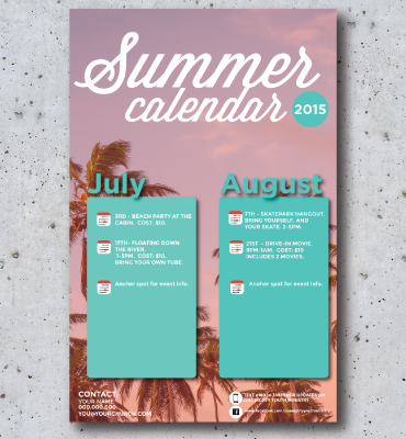 concrete-background-summer-calendar-with-icons