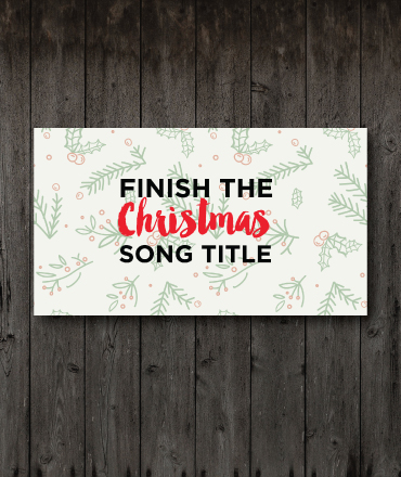 finish the christmas song title game - Christmas Youth Group Games